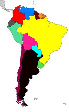 South America Geography Map, Bart Simpson, South America, Maps, Fictional Characters, Color, Colour, Blue Prints, Colors