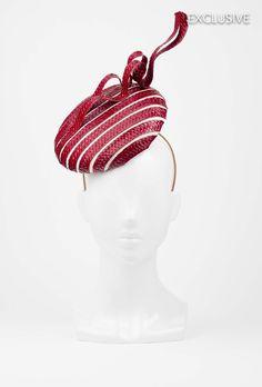 The Eternal Headonist  - #73 Red and White Striped Strawbraid Disc Hat by Kim Wiebenga 2014, $425.00