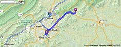 Driving Directions from 2260 Goose Creek Valley Rd, Montvale, Virginia 24122 to 2001 Crystal Spring Ave SW Ste 120, Roanoke, Virginia 24014 | MapQuest