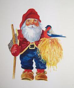 Pat Heintzelman Watercolors: Swedish Christmas Tomte
