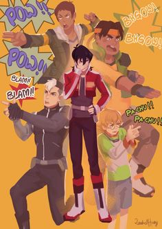 Voltron ✰ Legendary Defender #Cartoon Keith, Lance, Shiro, Pidge, Hunk