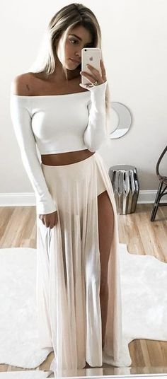 #summer #ultimate #outfits |  White + Nude