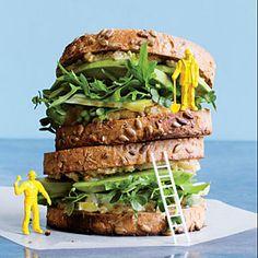 Nor-Cal Veggie Sandwiches with Hazelnut Butter   MyRecipes.com #cookinglight