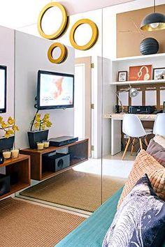 Small Condominium Interior Design Ideas - Home Interior Design Ideas Small Condo Living, Condo Living Room, Home Design Living Room, Living Area, Condo Bedroom, Small House Interior Design, Small Apartment Design, Condo Design, House Design