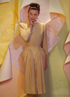 Cecil Beaton 1946 Dress by Peter Russell