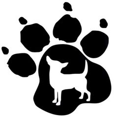 Chihuahua Dog Pet Paw Print Car Truck Window Vinyl Decal Sticker 12 COLORS #VinylDecalSticker