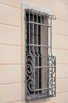 ZAC_8802 | by picmic51 Window Grill Design Modern, Grill Door Design, Door Gate Design, Window Design, Interior Stair Railing, Balcony Railing Design, Wall Partition Design, Window Security Bars, Iron Window Grill