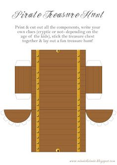DIY Treasure Hunt! Send your young scallywags on a treasure hunt that ends with an actual treasure chest.