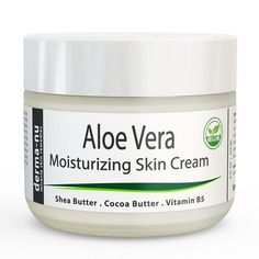 Derma-nu - Aloe Vera Natural Skin Cream - Best Remedy Skin Repair Cream - Dry Skin Treatment for Face & Body - Treatment for Psoriasis and Eczema Therapy - Non-greasy and Fast Absorbing - 4oz