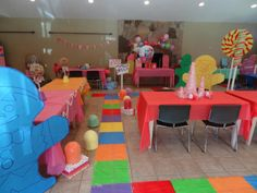Candy Land-themed birthday party for kids