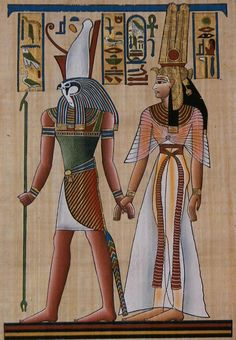 Egyptian Gods Osiris and Horus with Pharaoh Seti I The civilization of ancient Egypt lasted about 30 centuries—from the century b. Egyptian Mythology, Egyptian Symbols, Egyptian Goddess, Egyptian Art, Ancient Egyptian Paintings, Egyptian Costume, Egyptian Jewelry, Ancient Egypt Art, Ancient History