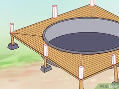 How to Build a Deck Around an Above Ground Pool. When you build a deck around an above-ground pool, you instantly increase the value, attractiveness and functionality of your. Above Ground Pool Steps, Round Above Ground Pool, Above Ground Pool Landscaping, Pool Deck Plans, Deck Building Plans, Building A Pool, Swimming Pool Decks, Above Ground Swimming Pools, In Ground Pools