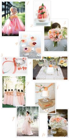 Peach Wedding Inspiration | One Hitched Lane