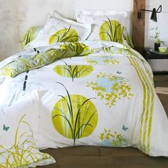 housse de couette zen bambou vert 2 taies d 39 oreillers. Black Bedroom Furniture Sets. Home Design Ideas