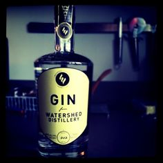 Gin from the Watershed Distillery. Columbus, OH. 8 Botanical's