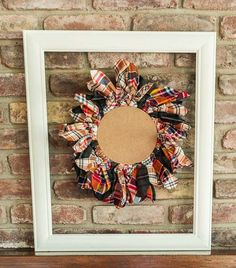 Recycled flannel shirt wreath – Recycled Crafts