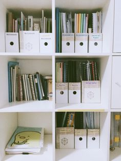 As seen on Tumblr: I love the way she stores notebooks.