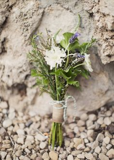 small bridesmaids bouquet with rosemary and lavender