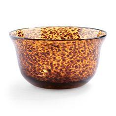 Luxury gift: Tortoise Glass Bowl, $68, C. Wonder.