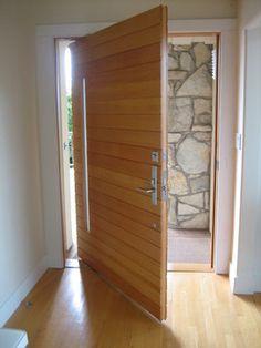 modern - pivot door  Check out our full line of pivot doors at https://pivotdoorcompany.com/Exterior-Doors/