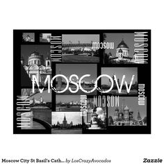 Moscow City St Basil's Cathedral Architecture City Postcard Cathedral Architecture, St Basils Cathedral, St Basil's, Keep It Cleaner, Moscow, Holiday Cards, Greeting Cards, Placemat, City