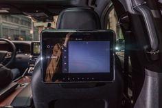 A pair of rear infotainment screens provides an abundant range of entertainment options.