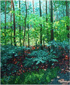 """Ewa Adams """"Glow"""" acrylic on canvas"""