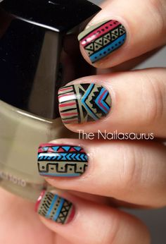 Want to do Tribal Nails this week for Morgan.