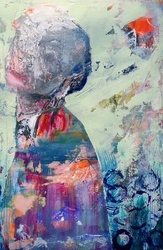 """The Knowing by Ardith Goodwin 12"""" by 18"""" acrylic on paper"""