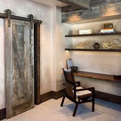 We are excited to this rustic installation from the talented ! It is a great example of our in action. Sun Valley Bronze, Yellowstone Club, Barn Door Track, Barn Door Hardware, Made In America, Entryway Tables, Bookcase, Arch, Action