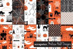 Halloween Patterns: Orange and Black by scrapster on Creative Market