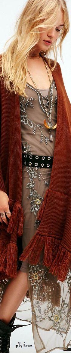 Free People  ≫∙∙☮ Bohème Babe ☮∙∙≪• ❤️ Curated  by Babz™ ✿ιиѕριяαтισи❀ #abbigliamento #bohojewelry #boho