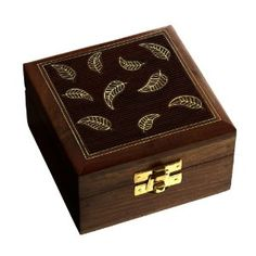 Nice box to store jewelry - From traditional Indian design - storage box wooden brass inlay - Daisy hand-carved in India ShalinCraft: Amazon.fr: Jewelry