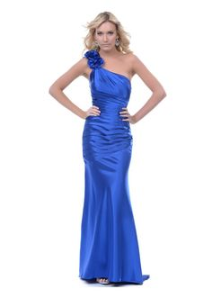 Prom http://www.unique-vintage.com/2013-prom-dresses-royal-blue-satin-pleated-shoulder-prom-dress-p-25532.html