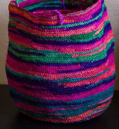 Spectacular Colors Sisal Agave Fiber Market Bag by thedistantpast