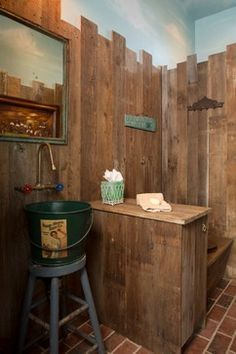 1000 images about outhouse bathroom on pinterest for Outhouse bathroom ideas