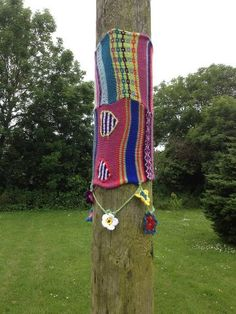 First Yarn Bombing Project - Solva, Pembrokeshire, West Wales 23 06 12