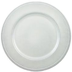 wholesale charger plates  sc 1 st  Pinterest & Bulk Pearlized White Plastic Charger Plates with Beaded Rims 13 in ...