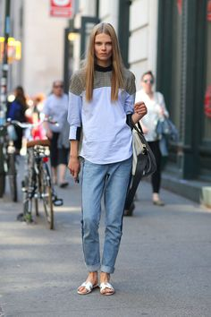 Cute casual top!  Caroline Brasch Nielsen at Sp14 NY Fashion Week.