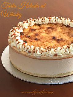 Tarta helada al wishky Just Cakes, Cakes And More, Cake Recipes, Snack Recipes, Dessert Recipes, Snacks, Cupcakes, Cake Cookies, Whiskey Cake