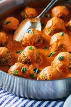 "Thai Red Curry Chickpea 'Meatballs""- fresh ginger, carrots and garlic are blended with chickpeas and served with a creamy red curry sauce for a satisfying and flavorful plant-based meal. (vegan + gluten-free)"