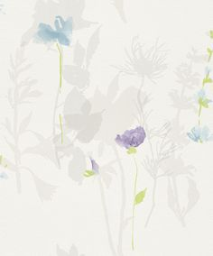 Flower Poetry 451627 by Rasch - Girls bedroom choice Of Wallpaper, Designer Wallpaper, Pattern Wallpaper, Flower Poetry, Blue Tiles, Girls Bedroom, Bedrooms, Scrapbook Paper, Scrapbooking