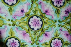 Pink and Blue Floral Print by Red Rooster, Skylark #21097, 100% Cotton Fabric sold By-The-Yard, by StashTraders on Etsy
