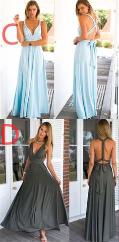 2017 New Cheap Affordable Formal Comfortable Different Color Convertible Bridesmaid Dresses, PD0261