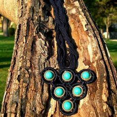 Dark Blue necklace Turquoise Necklce Night necklace by Nimmet