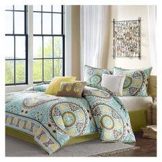 Keya 7 Piece Printed Comforter Set