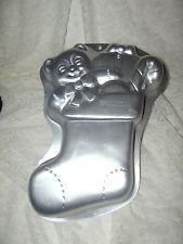 Wilton Cake Pan Treat Mold Christmas Stocking Candy Cane Teddy Bear Gift