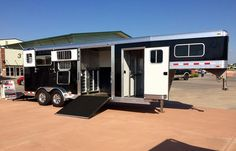 4-Star CSTK Custom Trailers booth at the AQHYA World Show - Oklahoma State Fairground in Oklahoma City, OK  (800) 696-2989