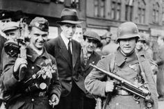 Vlasovists during Prague uprising in May 1945 Eastern Front Ww2, Battle Of Stalingrad, Operation Barbarossa, Central And Eastern Europe, The Third Reich, My Heritage, Soviet Union, Armed Forces, World War Ii