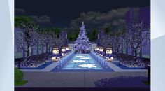 Check out this lot in The Sims 4 Gallery! - #winter #park #christmas #snow #lights #christmastree #snowman #snowflake #Quietgirlgames #holiday